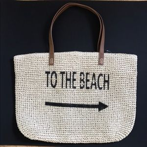 Style and co. straw beach bag/tote NEW